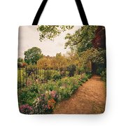 England - Country Garden And Flowers Tote Bag