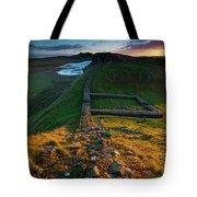 England, Northumberland, Hadrians Wall Tote Bag