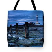 England, Tyne And Wear, St Marys Lighthouse Tote Bag