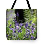 English Bluebell Wood Tote Bag