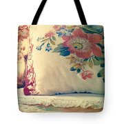 English Chintz With Green Tone Tote Bag