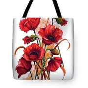 English Poppies 2 Tote Bag