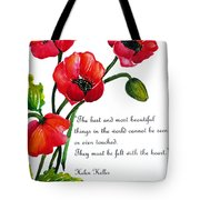 English Poppy   Poem Tote Bag