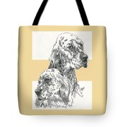 English Setter And Pup Tote Bag