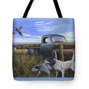 English Setters With Old Truck Tote Bag