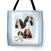 English Springer Spaniel W/ghost Tote Bag