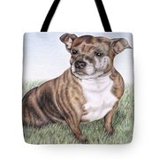 English Staffordshire Terrier Tote Bag