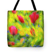 English Summer Flowers Pastel Tote Bag
