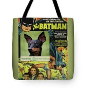 English Toy Terrier Art Canvas Print - Batman Movie Poster Tote Bag