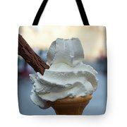 English Vanilla Ice Cream Cone And Flake Tote Bag