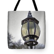 English Victorian Style Park Lamp Tote Bag