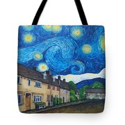 English Village In Van Gogh Style Tote Bag