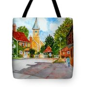English Village Street Tote Bag