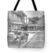 Englishtown New Jersey Classic Car Tote Bag