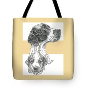 English Pointer And Pup Tote Bag