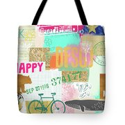 Enjoy Every Moment Collage Tote Bag