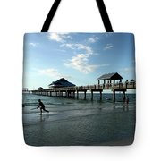 Enjoy The Beach - Clearwater Pier Tote Bag