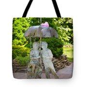 Enjoying Rain Showers Tote Bag