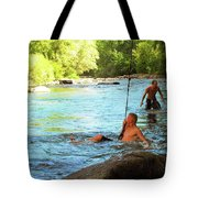 Enjoying The Cool Creek Tote Bag