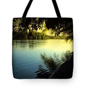 Enjoying The Scenic Beauty Of The Sacramento River Tote Bag