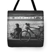 Enjoying The Sun In Greece Tote Bag