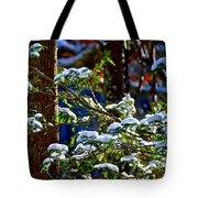 Enlightened Winter Tote Bag