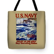 Enlist In The Navy - Help Your Country Tote Bag