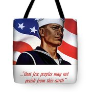 Enlist In Your Navy Today - Ww2 Tote Bag