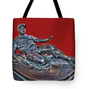 Enos Country Slaughter Statue - Busch Stadium Tote Bag