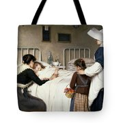 Enrique Paternina Garcia Cid - Mother Visit To The Hospital 1892 Tote Bag