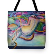 Entangled Figure With Rocks Tote Bag