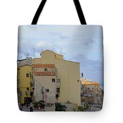 Entering Cefalu In Sicily Tote Bag