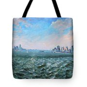 Entering In New York Harbor Tote Bag