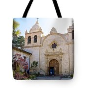 Entering The Church Sanctuary At Carmel Mission-california  Tote Bag