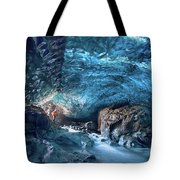 Entering The Ice Cave Tote Bag
