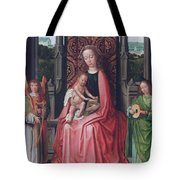 Enthroned Virgin And Child, With Angels Tote Bag