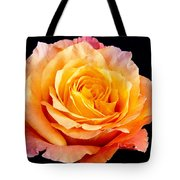 Enticing Beauty The Orange  Rose Tote Bag