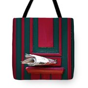 Entrance Door And Newspaper Tote Bag