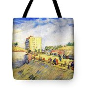 Entrance To Paris With A Horsecar Tote Bag