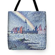 Entrance To The Port Of Honfleur Tote Bag