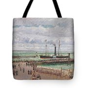 Entrance To The Port Of Le Havre And The West Breakwaters Tote Bag