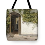 Entrance To The Rectory At Hill Place Tote Bag
