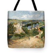 Entrance To The Village Of Osny Tote Bag