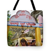 Entry Gate To Vyasa's Cave - Badrinath India Tote Bag