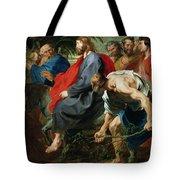 Entry Of Christ Into Jerusalem Tote Bag