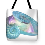 Entwined Nautilus Shells On White Tote Bag