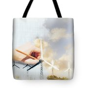 Environment Engineer Drafting Sustainable Design Tote Bag