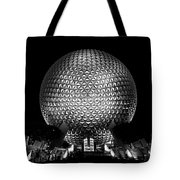 Epcot In Black And White Tote Bag