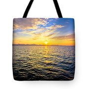 Epic Colorful Sunset On Sea Tote Bag