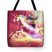 Epic Space Sloth Riding On Unicorn Tote Bag